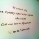 Muurtekst Rumi 2012