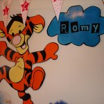 Babybord Tijgertje 1 + Naambord Romy