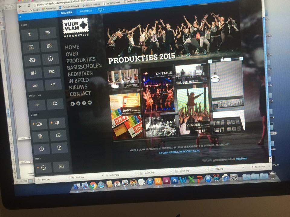 Website Vuur & Vlam